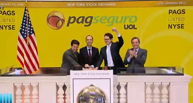 PagSeguro sobe quase 36% em dia de estreia na bolsa de NY