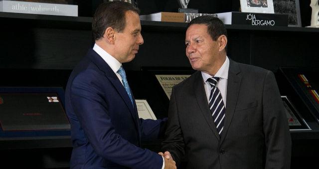 João Doria e Hamilton Mourão