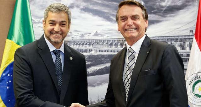 Mario Abdo Benítez e Jair Bolsonaro