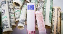 Euro Dólar Moedas