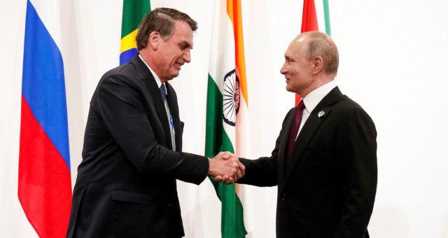 Bolsonaro e Vladimir Putin