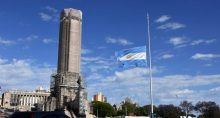 Bandeira da Argentina em Rosario, na Argentina