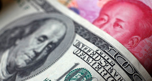 Guerra Comercial Dólar Yuan Moedas