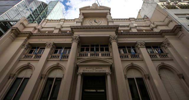 Fachada do banco central da Argentina
