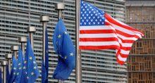 EUA União Europeia Bandeiras