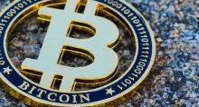 bitcoin moeda dourada