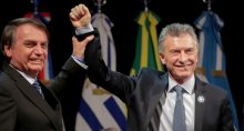 Jair Bolsonaro e Mauricio Macri