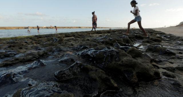 Poluição Mancha Petróleo Nordeste