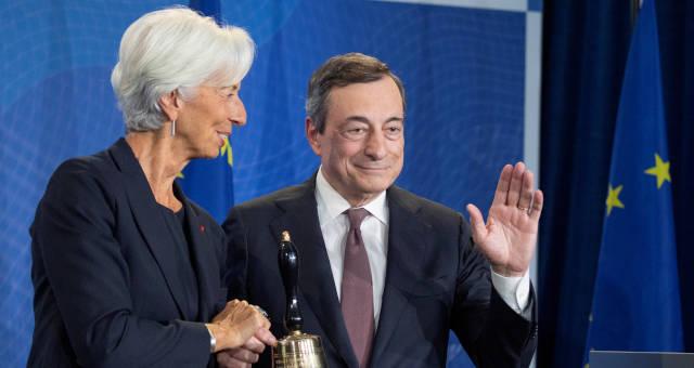 Christine Lagarde e Mario Draghi BCE