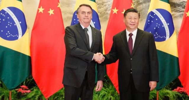 Jair Bolsonaro e Xi Jiping