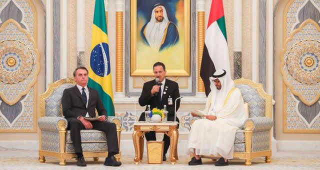 Jair Bolsonaro Mohammed bin Zayed Al Nahyan