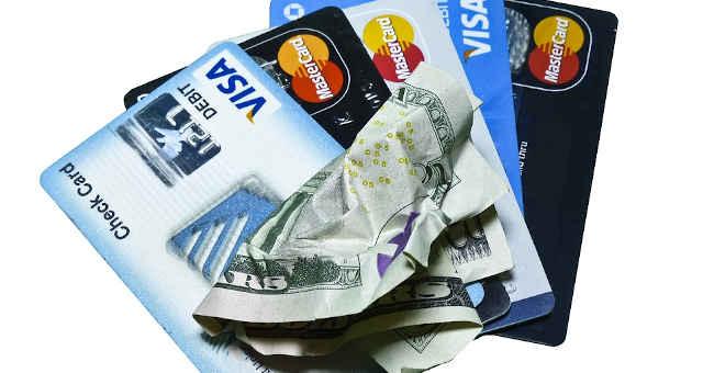 nota dinheiro cartão de crédito visa mastercard