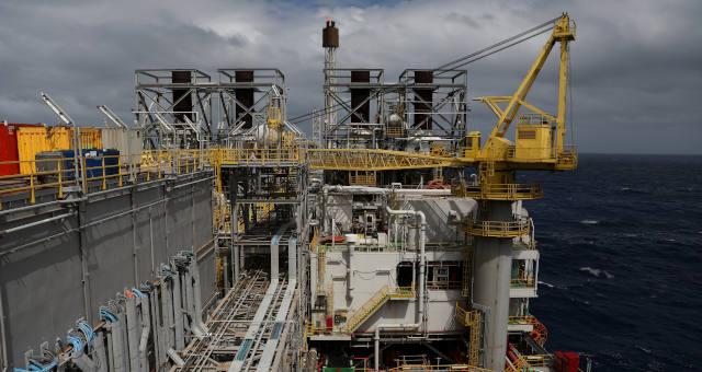 Petróleo da Petrobras na bacia de Santos