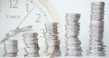 torre dinheiro moedas tempo