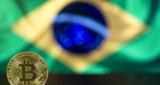Bitcoin Criptomoedas bandeira brasil