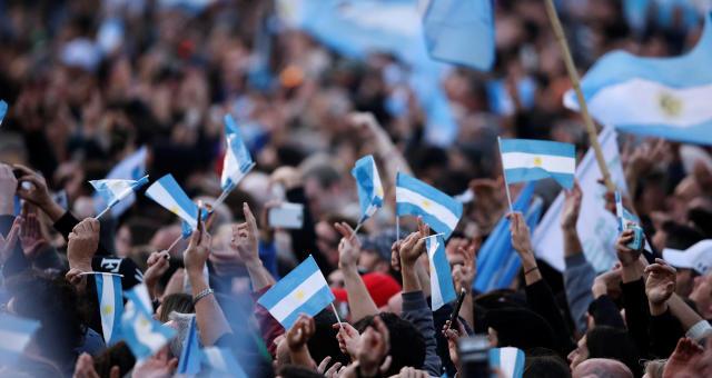 Argentina Eleições Multidão