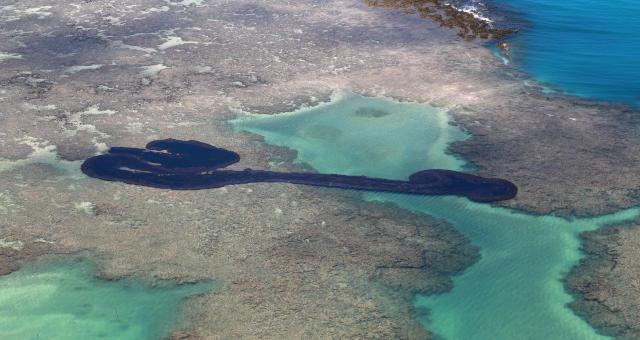 Mancha Poluição Petróleo nordeste