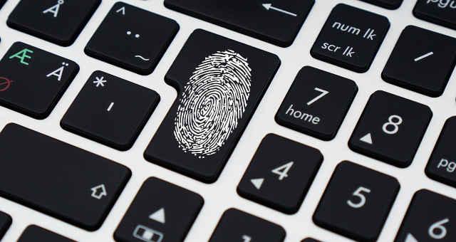 cibersegurança segurança impressão digital identidade tecnologia computador teclado