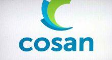 Logo da Cosan exibido em painel na B3, em São Paulo