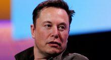 Elon Musk, presidente-executivo, durante convenção em Los Angeles (EUA)