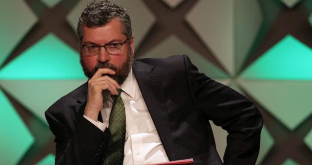 Ministro das Relações Exteriores, Ernesto Araújo, durante fórum de investimentos em São Paulo