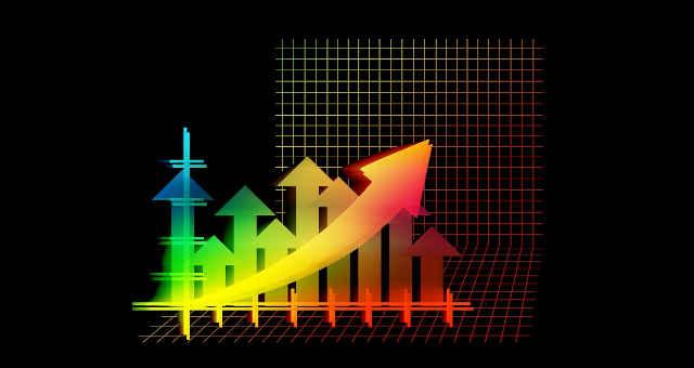 finanças alta gráfico estatística análise