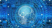 inteligencia artificial dados tecnologia código binário computador