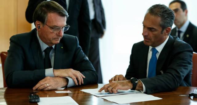 Jair Bolsonaro e Carlos Slim Domit