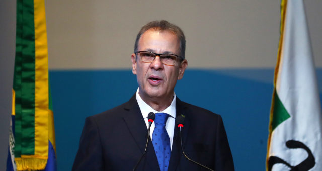 Ministro de Minas e Energia, Bento Albuquerque, durante leilão de excedentes da cessão onerosa, no Rio de Janeiro