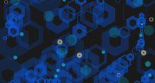 padrão abstrato tecnologia bloco blokchain