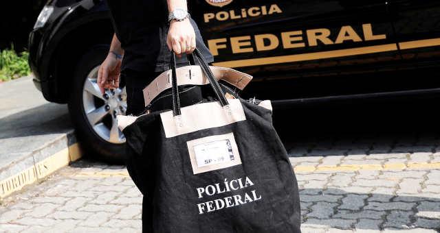 Agente da PF durante operação em São Paulo