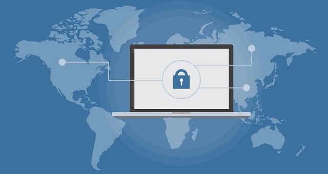 rede segurança mundo cadeado computador comunicação mapa mundo planeta