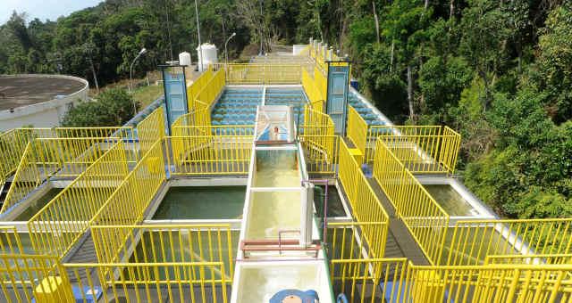 Estação de tratamento da Sabesp