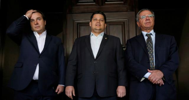 Rodrigo Maia Davi Alcolumbre Paulo Guedes Reforma Tribitária