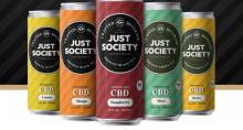 Linha de bebidas à base de cannabidiol da Just Society