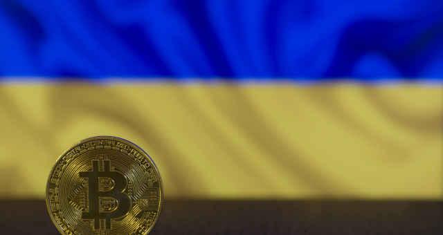 bitcoin bandeira ucrânia