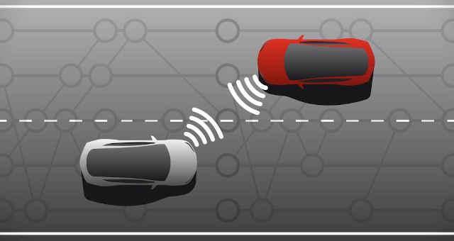 carro blockchain conexão estrada