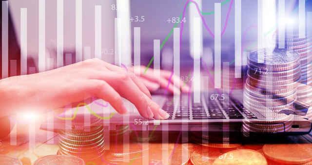 computador finanças negócios mercado gráfico estatística moedas economia