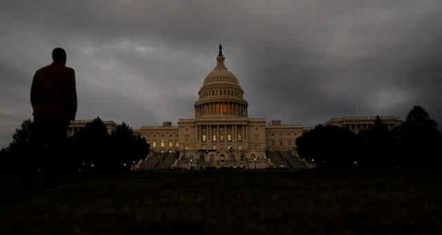 Vista do prédio do Congresso dos EUA em Washington