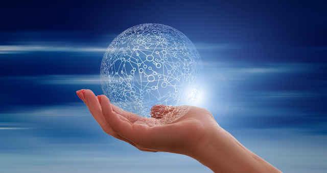 dados mão mundo tecnologia