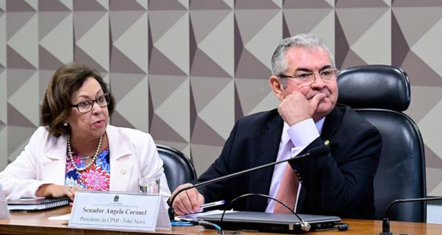 Deputada Lídice da Mata e o presidente da comissão, senador Angelo Coronel