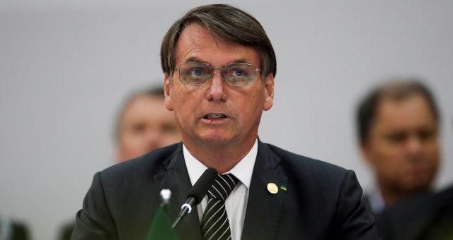 Presidente Jair Bolsonaro durante reunião do Mercosul em Bento Gonçalves