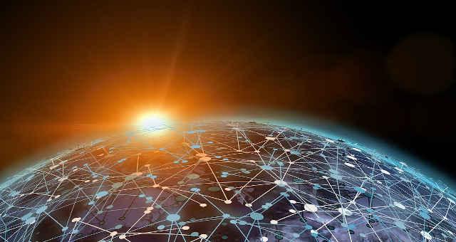 mundo luz comunicação interconexão ligação planeta rede blockchain sol