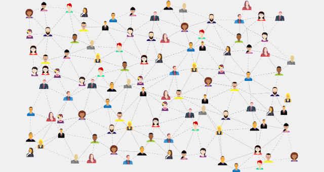 rede comunicação pessoas networking