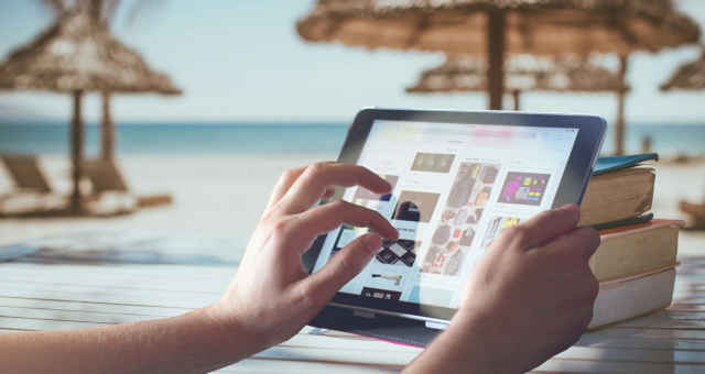 tablet livros praia descanso análise notícias
