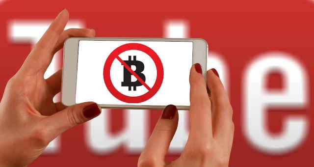 youtube bitcoin proibição