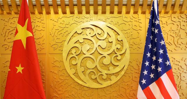 Bandeiras China EUA Guerra Comercial