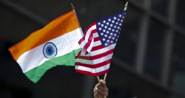 Bandeiras EUA Índia