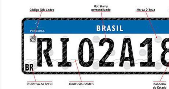 Detran Placas de Veículos Mercosul
