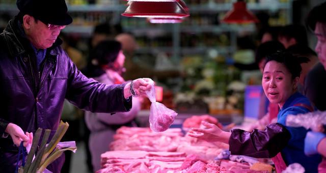 Ásia Supermercado Alimentos Carnes Suínos Consumidor